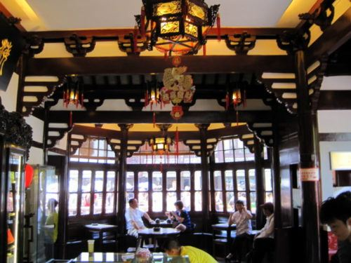Inside Old Town's famous Tea House. Beautiful! And expensive.