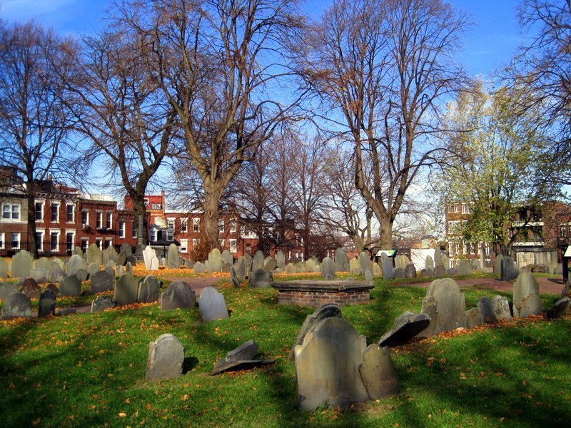 Copp's Hill Burial Ground in Boston's North End where, in 1959, the earliest Black Bostonians are buried.