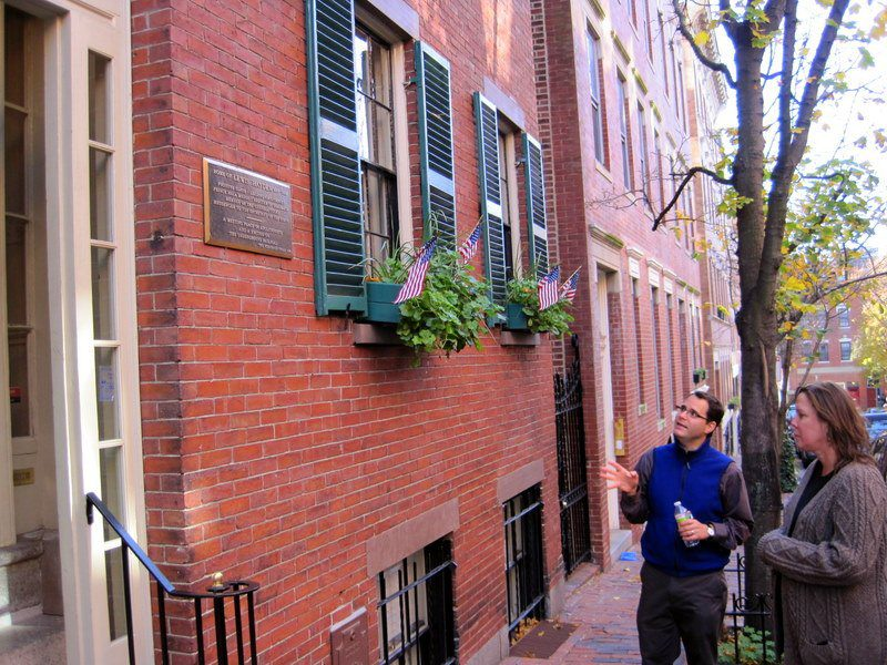 Beacon Hill home of fugitive slave and heroic abolitionist, Lewis Hayden. Alex explained Hayden often said he felt more pain thinking of his child who was sold to another slave master than the one who died.