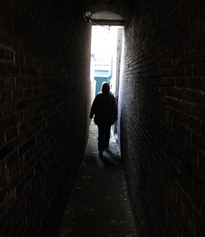 A highlight of the tour was winding through the hidden alleys in Beacon Hill that fugitive slaves used to evade capture.
