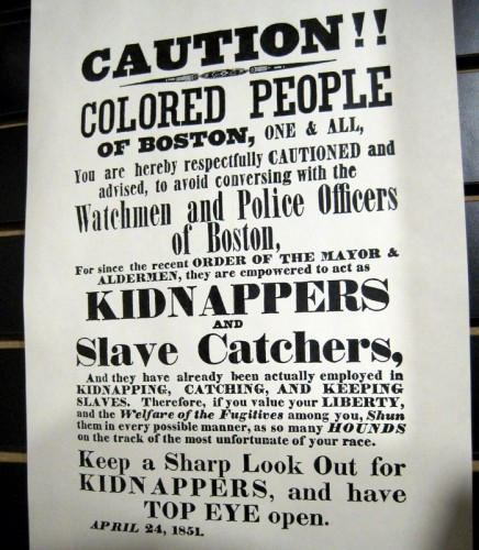 A poster warning Blacks to avoid capture.