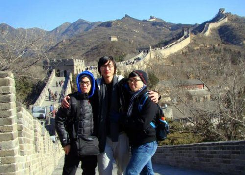 John (right side) and friends at the Great Wall of China!