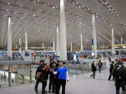 John in the futuristic, dragon-like Beijing airport!
