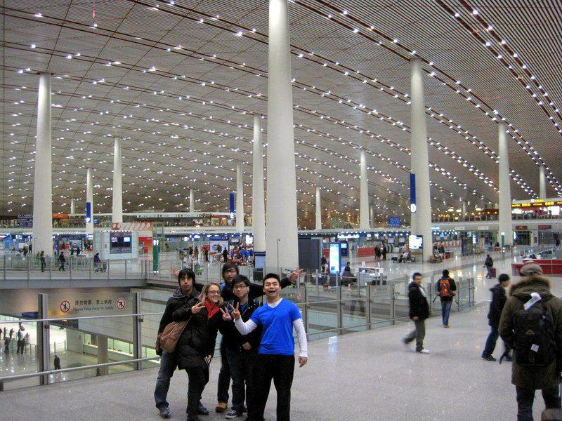 John in the futuristic, dragon-like Beijing airport!
