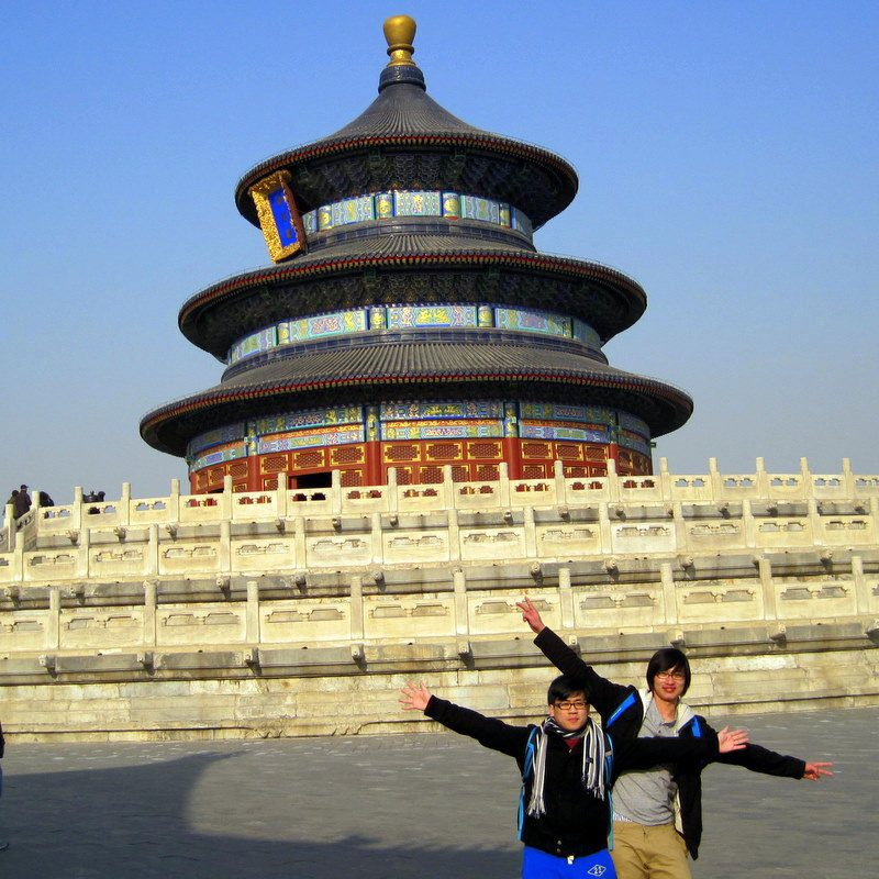 John (on the left) at the Temple of Heaven in Beijing!