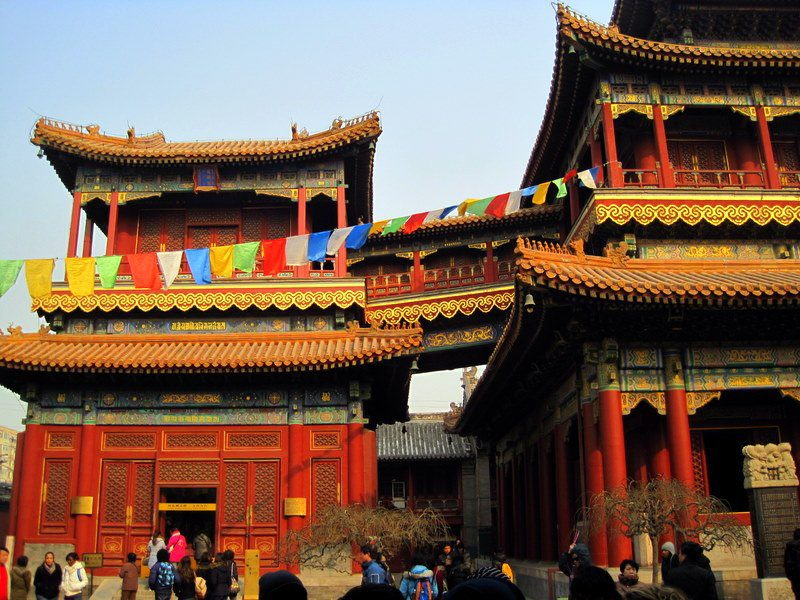 One small part of Lama Temple. It has a remarkable Buddha statue!