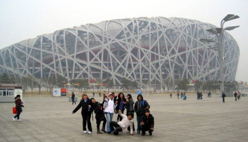 The Bird's Nest Stadium in the Beijing Olympic Village. Wow!