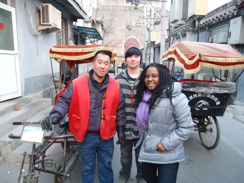 Stephane and Ryan (read his article right before Stephane's!) on a rickshaw tour of a Hutong neighborhood of Beijing.