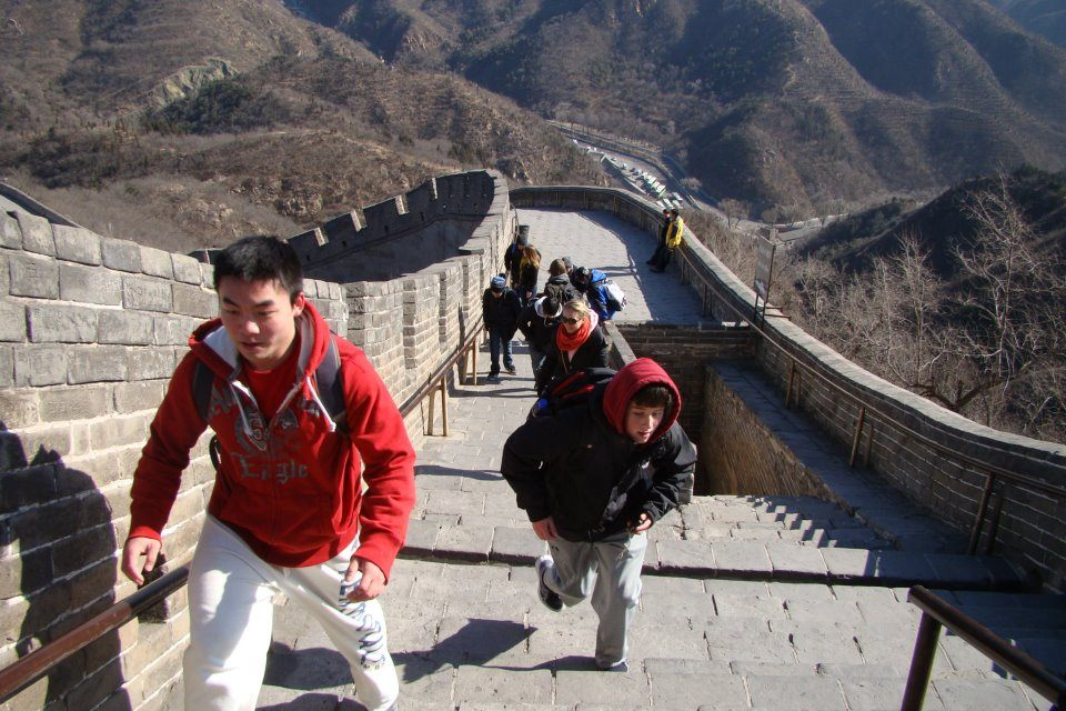 The Great Wall was so much steeper than Ryan expected!