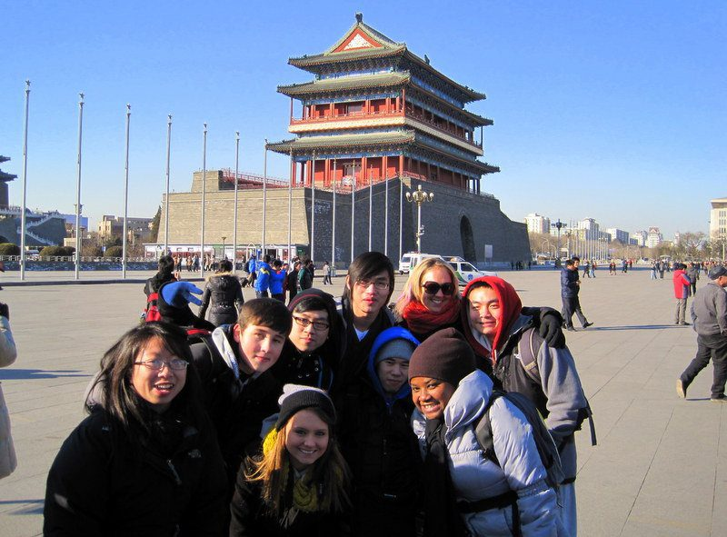 Stephane and friends by Tiananmen Square in Beijing.