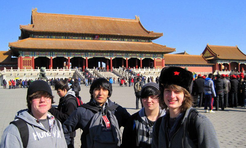 Ryan and friends at the Forbidden City in the heart of Beijing.