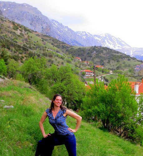 Ecstatic to be at ancient and famous Mount Parnassus, Greece!
