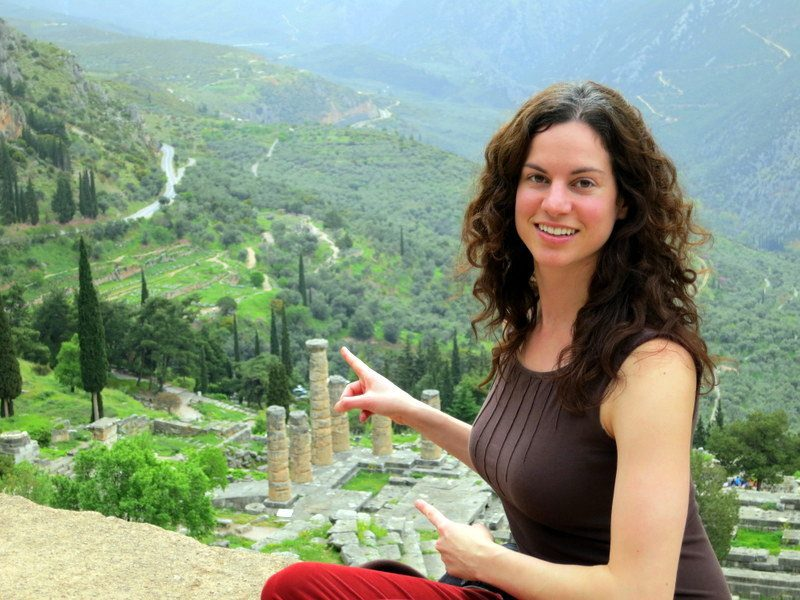 How magical to touch the site of the Oracle of Delphi!