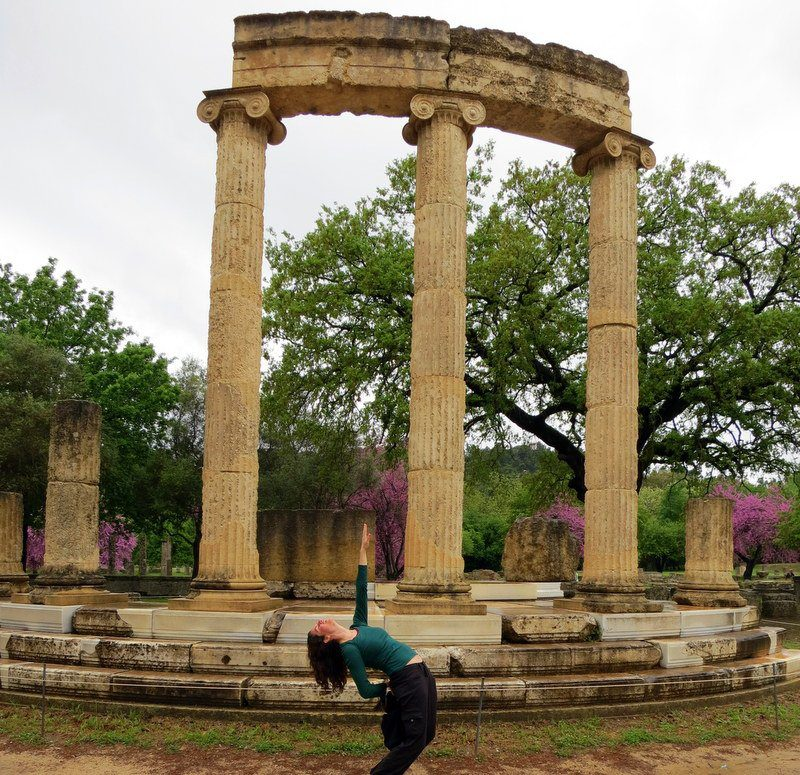At the Temple of Hera in Olympia, Greece!