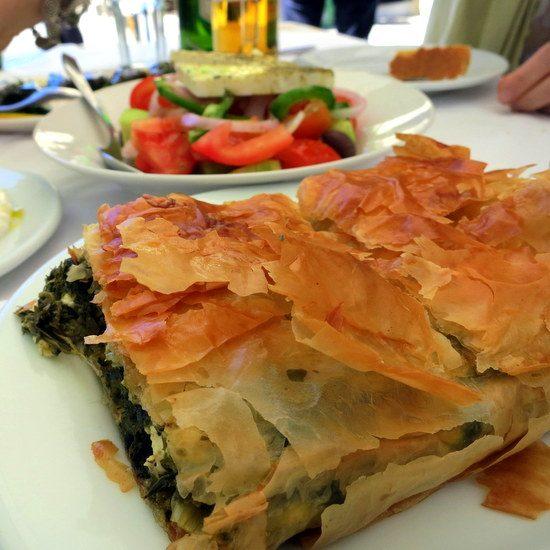 Flaky, flavorful spinach pie. Scrumptious!