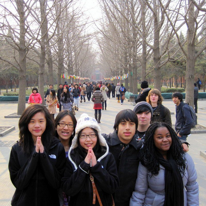 Love this photo of BPS students at Beijing's Lama Temple!
