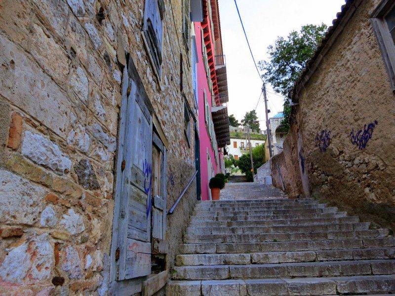This was the staircase up the hill led to our hotel. It helps to be in shape in Nafplio!