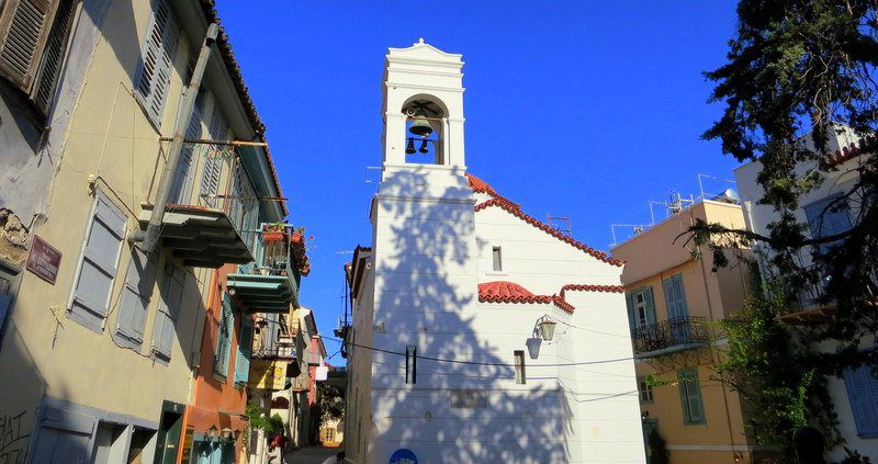 See churches and historic houses as you wander the Nafplion's streets.