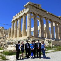 The Blues Brothers at the Parthenon of Athens, Greece