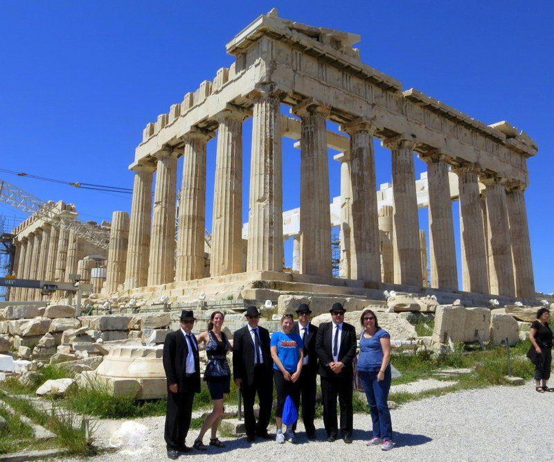 Who were the mysterious Blues Brothers at the Parthenon in Athens, Greece??