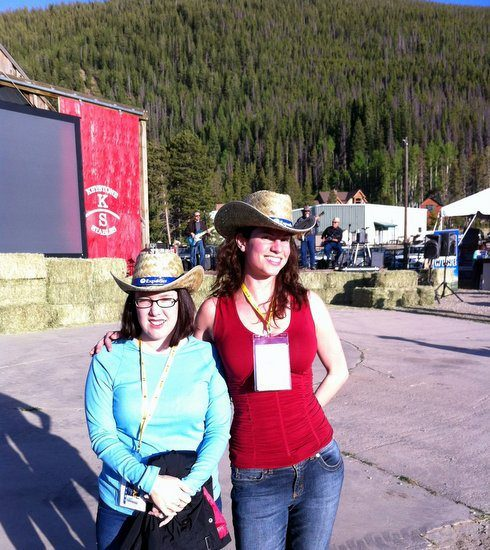 Brilliant marketing: We couldn't help but take cowboy hat pics!