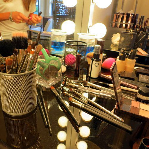Look at all these tools of makeup science.