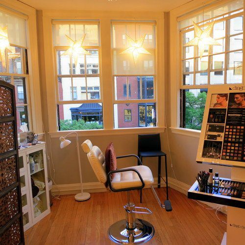 What a beautiful Boston makeup studio!