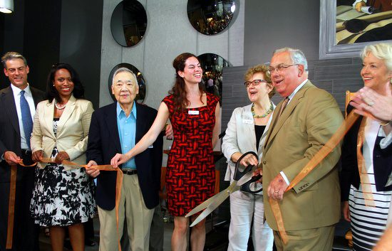 The ribbon is cut and the New Boston Hostel is officially open!