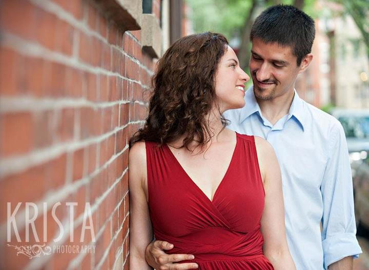 One of the lovely engagement photos by Krista Photography.