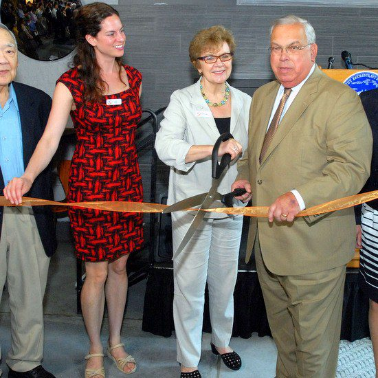 The ribbon-cutting for the New Boston Hostel with the Mayor!