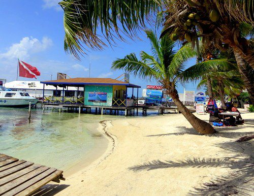 The water taxi to Caye Caulker is just a few steps down the beach from The Phoenix. On to our next Belize destination!