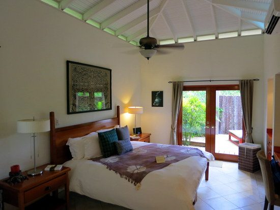 Our wonderful Master Suite at Ka'ana. Oooh, that peaked ceiling!
