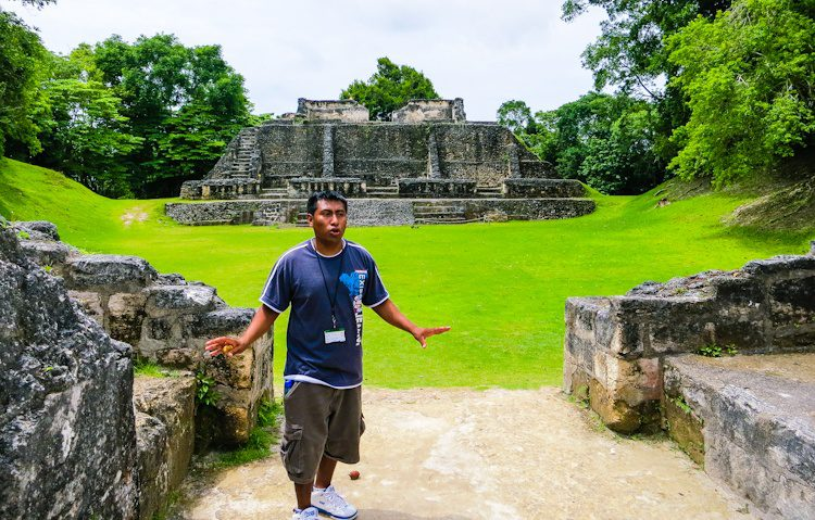 Our excellent guide at Xunantunich was knowledgable, professional, patient, and interesting!