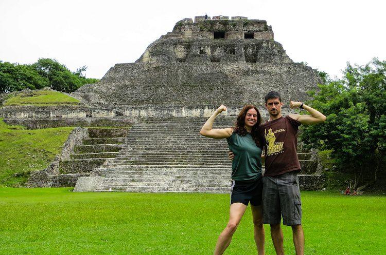 Xunantunich Mayan temple in Belize: El Castillo