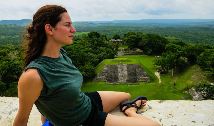 How often do you get to sit atop a 1,212-year old, 130-foot-tall ancient Mayan building with no guardrails?