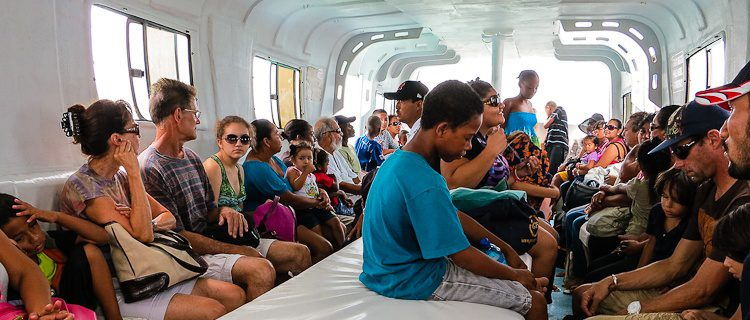 The water taxi between Ambergris Caye and Caye Caulker had some of the cutest kids we'd ever seen!