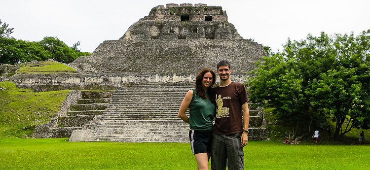 Colin and me while hiking the fabulous Xunantunich Mayan ruins in Western Belize.