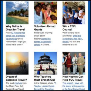 Subscribe to my Monthly Teaching Traveling e-Newsletter