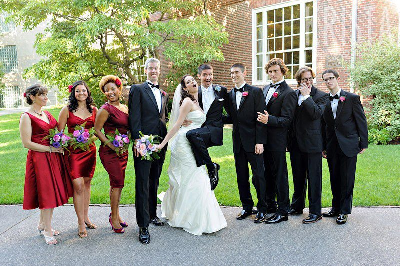 """Hahahah! """"Now let's take a crazy photo,"""" commanded Krista. Our wedding party obliged."""