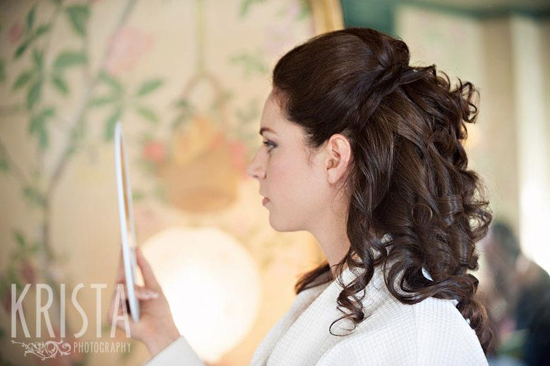 Wedding hair and makeup took hours, and you can see why!