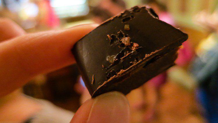 My #1 favorite of the chocolates we sampled: Salted dark chocolate caramel. WOW!