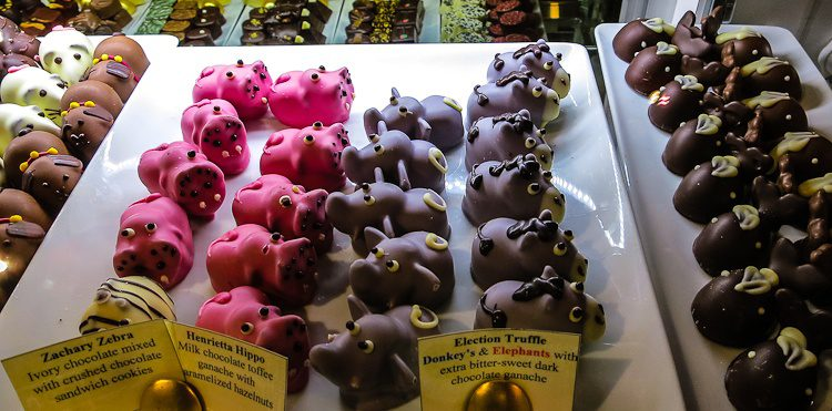 The cutest chocolates in the whole store!