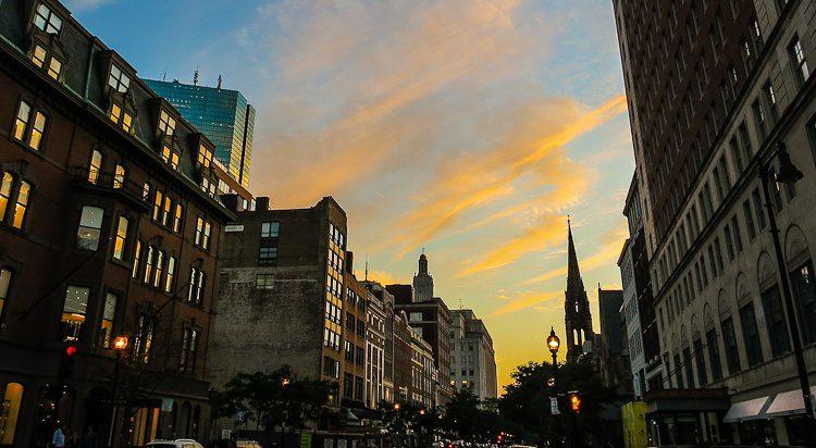 Sunset Boston, Newbury Street