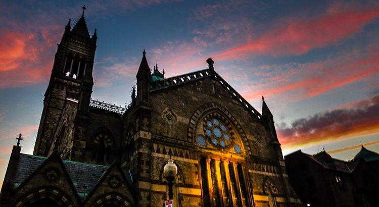 Sunset Boston Old South Church