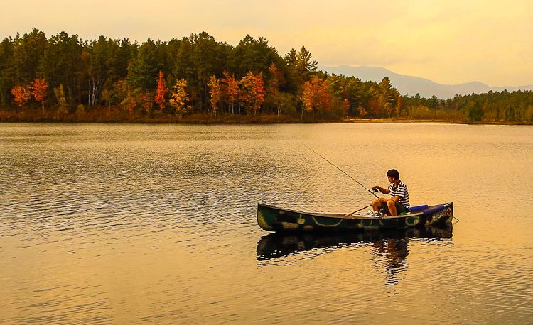 What a beautiful fishing moment for autumn!