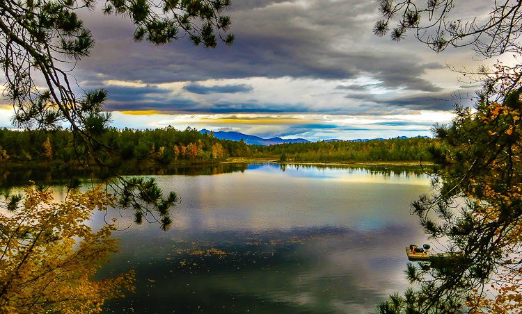 Want to live out here on this New Hampshire pond?