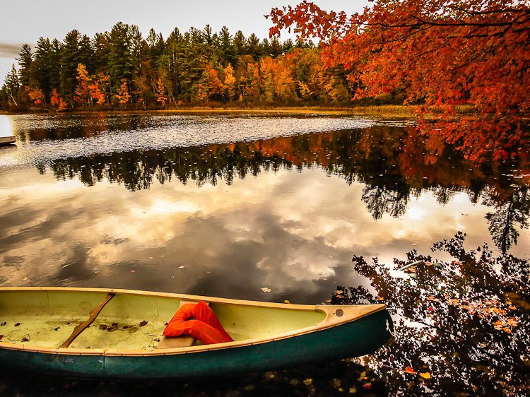 We did some quality boating amid the leaf reflections.
