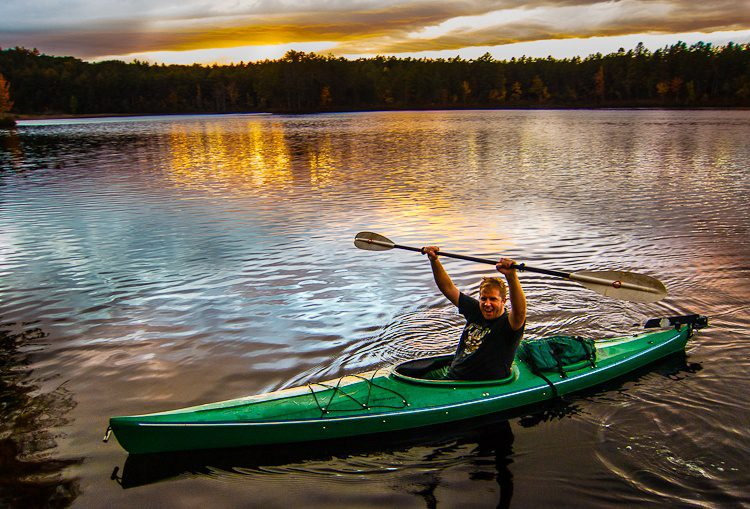 Triumphantly staying on water for 24 hours in autumnal New Hampshire!
