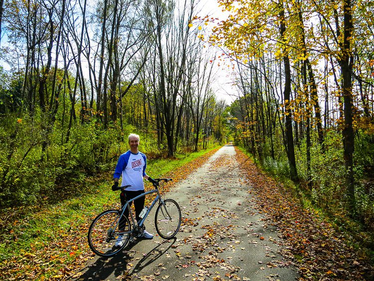 Find a fabulous rail trail, and you're off!