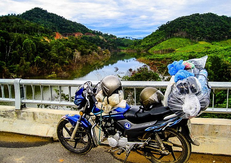 During motorcycle travel across Vietnam, I didn't lose a thing! Though my computer did get smashed.